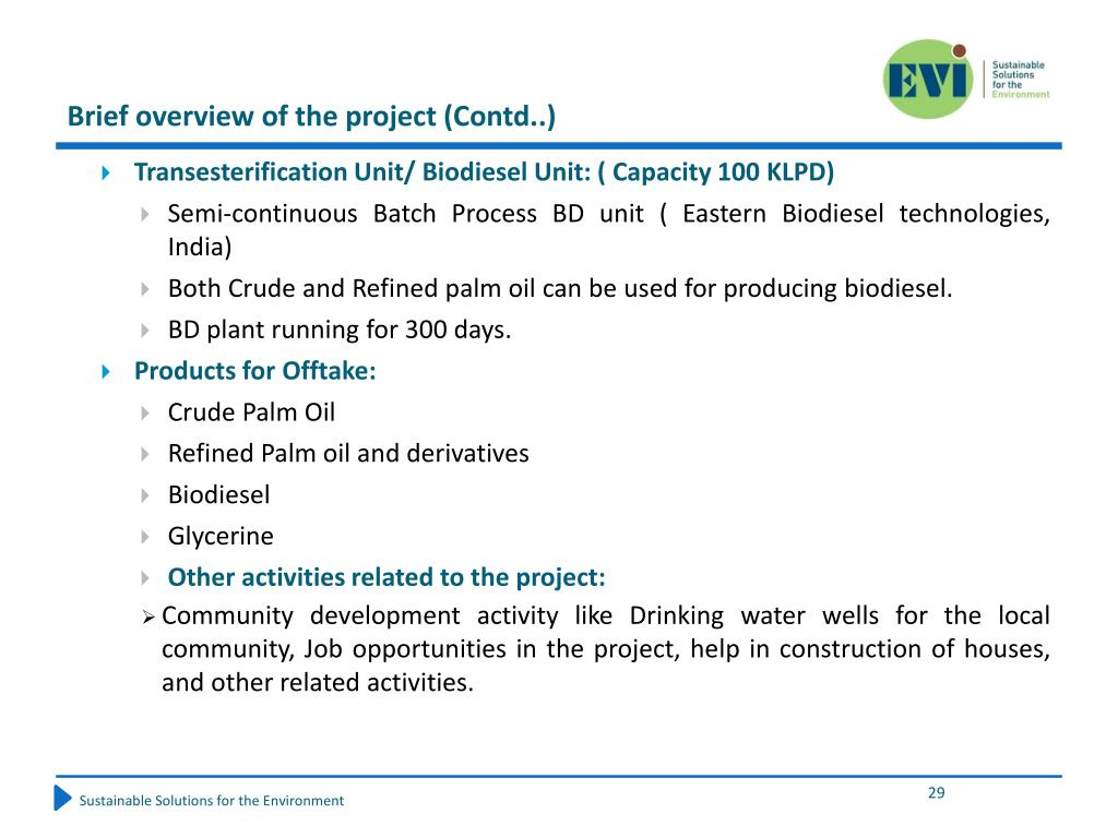 Brief overview of the project (Contd..)