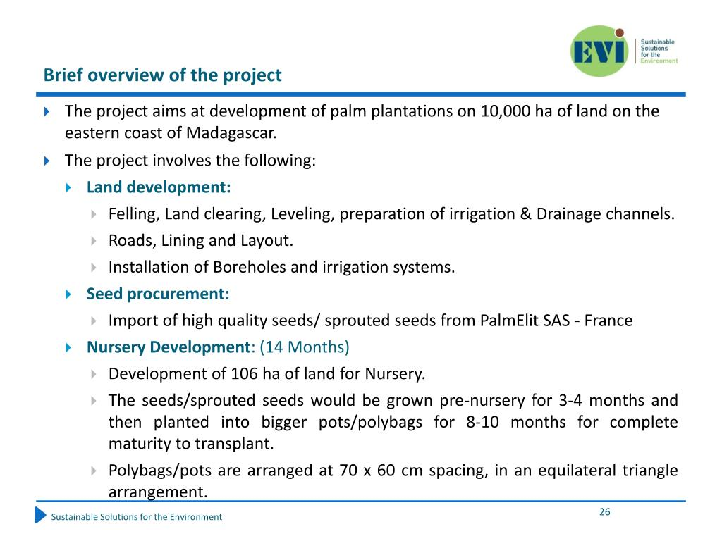 Brief overview of the project