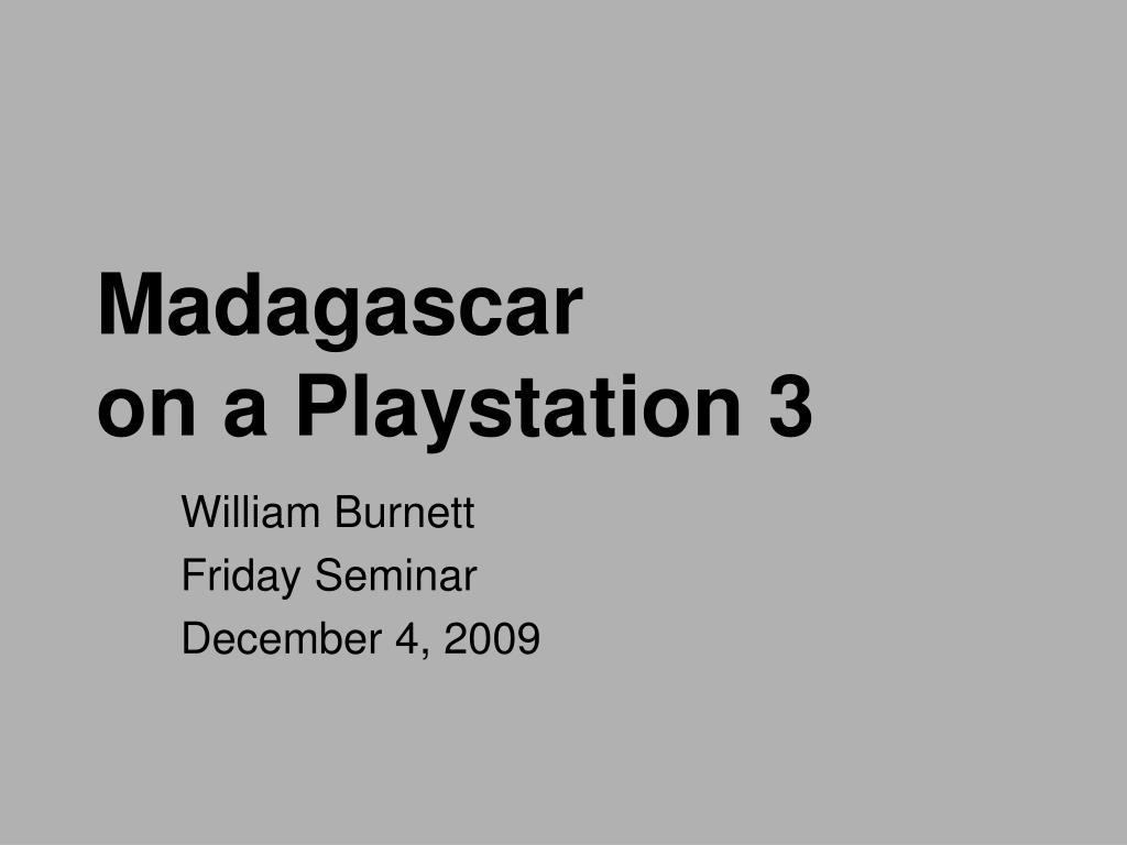 madagascar on a playstation 3 l.