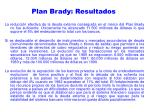 plan brady resultados