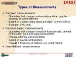 types of m easurements