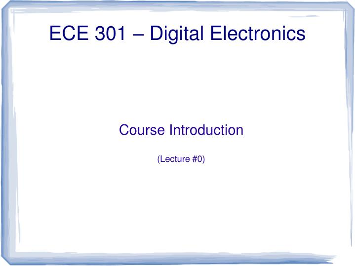 course introduction lecture 0 n.