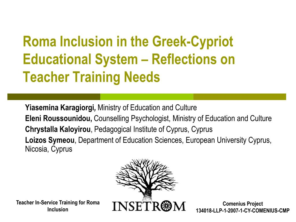 roma inclusion in the greek cypriot educational system reflections on teacher training needs l.