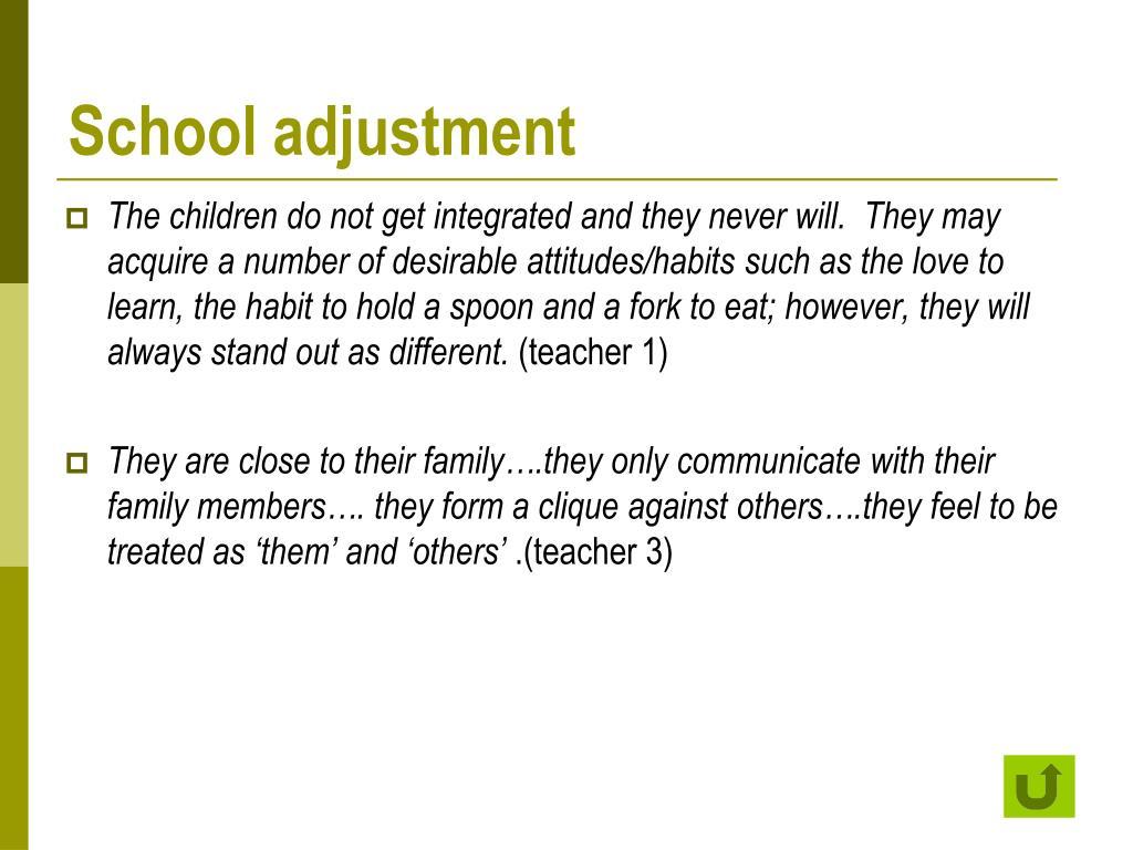 School adjustment