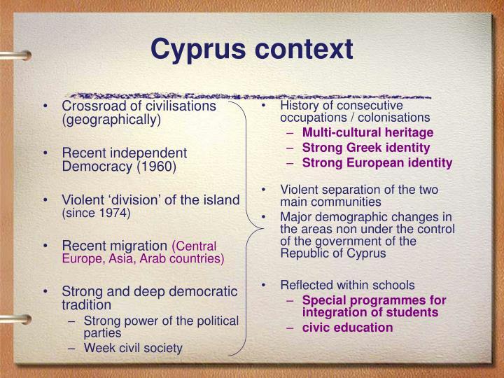 Cyprus context
