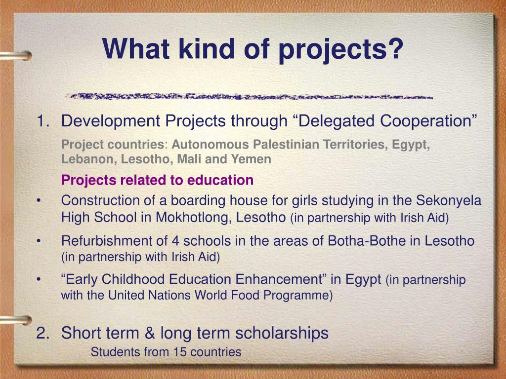 What kind of projects?