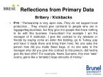 reflections from primary data18