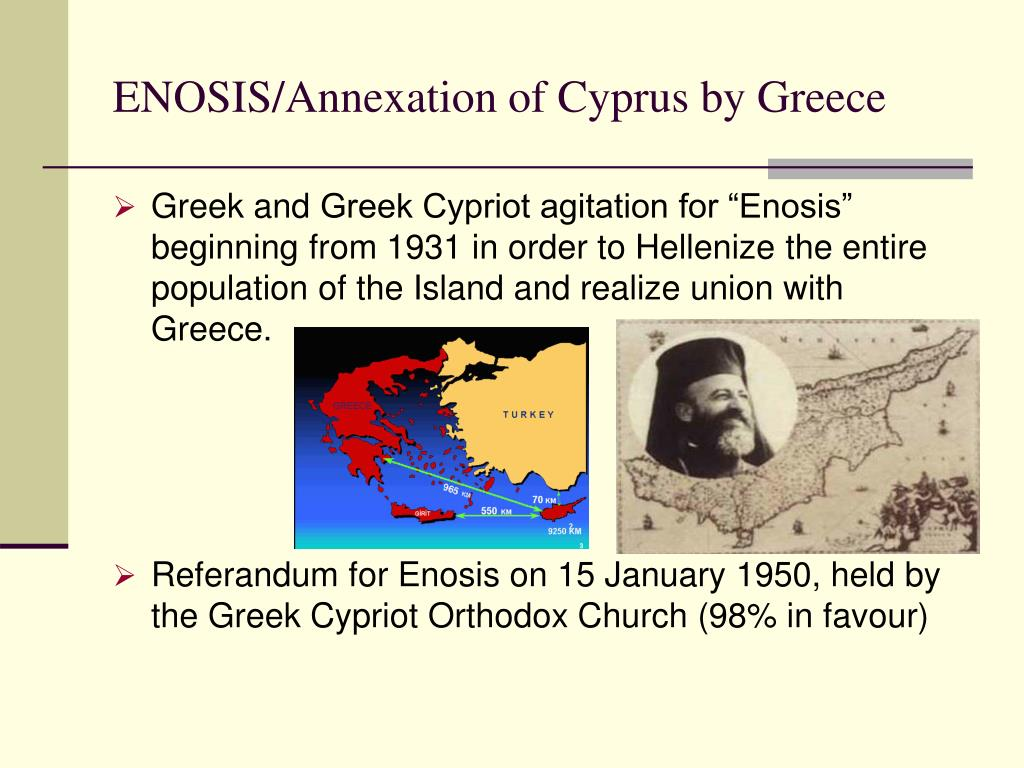 ENOSIS/Annexation of Cyprus by Greece
