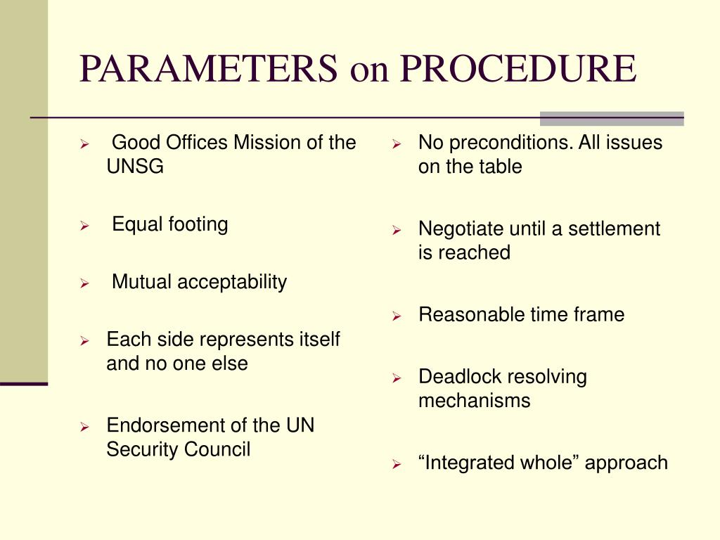 Good Offices Mission of the UNSG