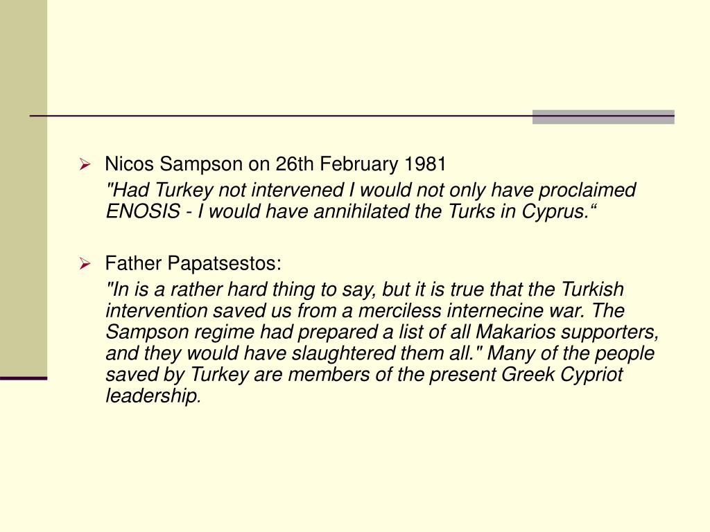 Nicos Sampson on 26th February 1981
