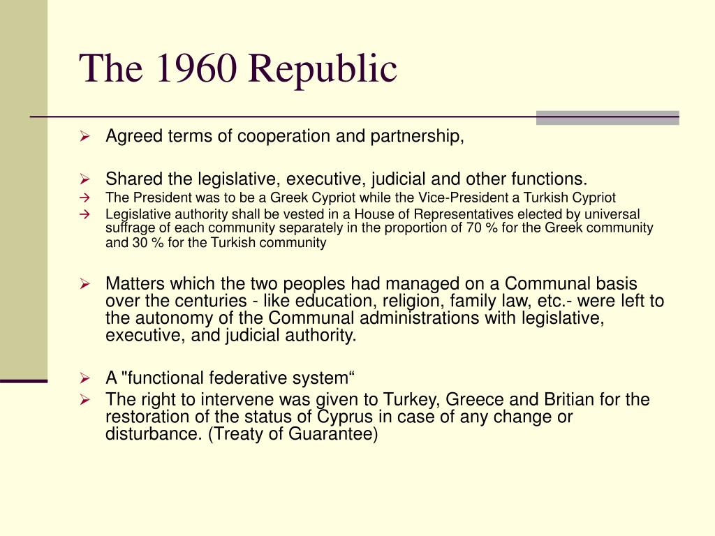 The 1960 Republic