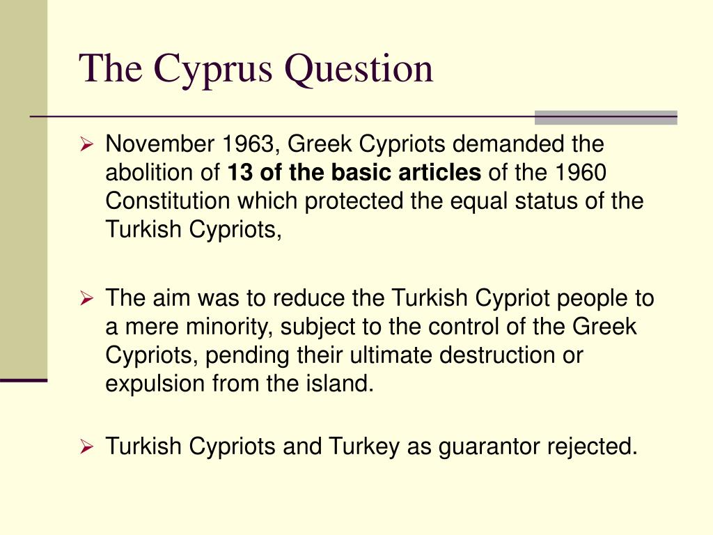 The Cyprus Question