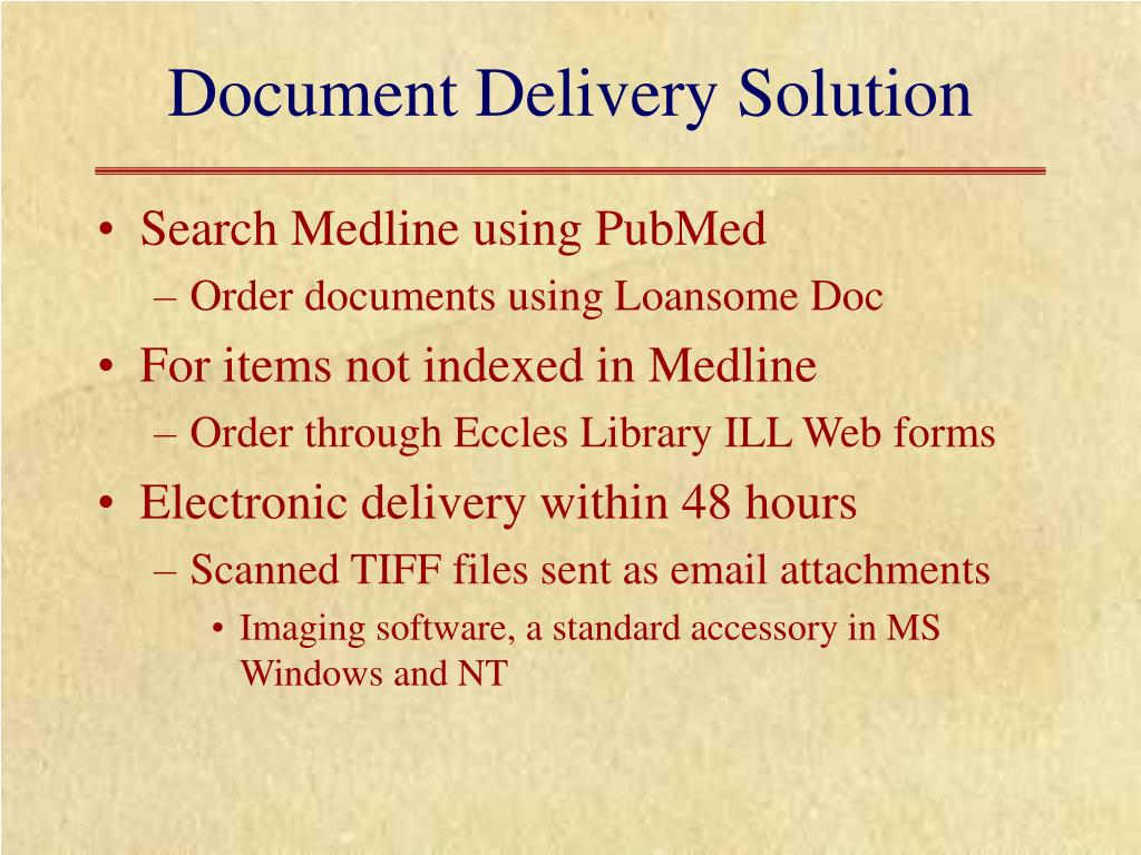 Document Delivery Solution