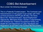 cdbg bid advertisement