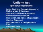 uniform act property acquisition