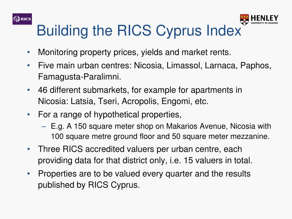 Building the RICS Cyprus Index