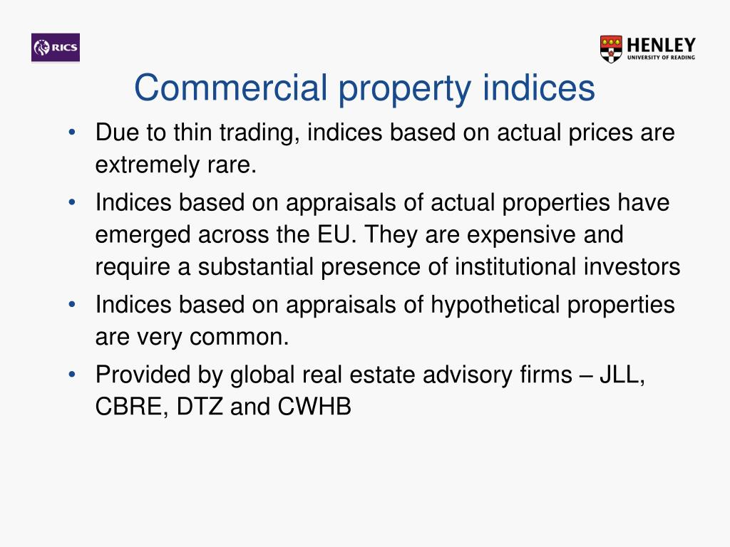 Commercial property indices