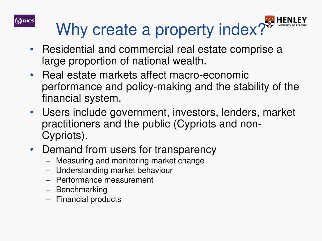 Why create a property index?