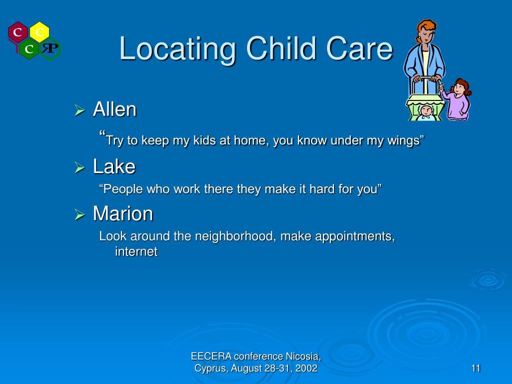 Locating Child Care