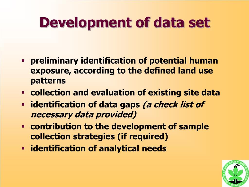Development of data set