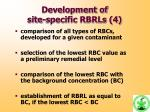 development of site specific rbrls 4