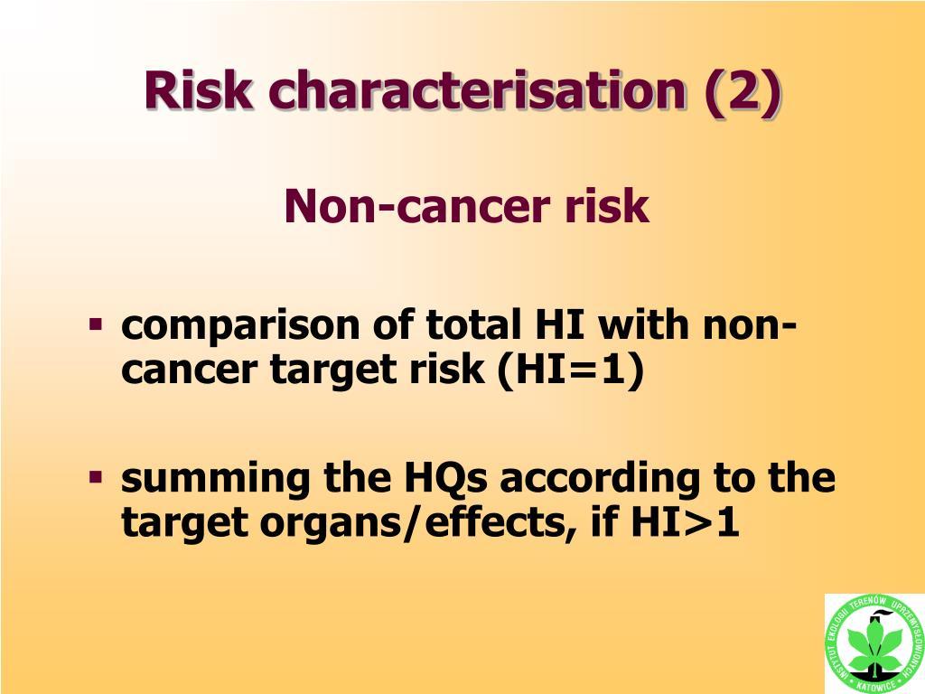 Risk characterisation