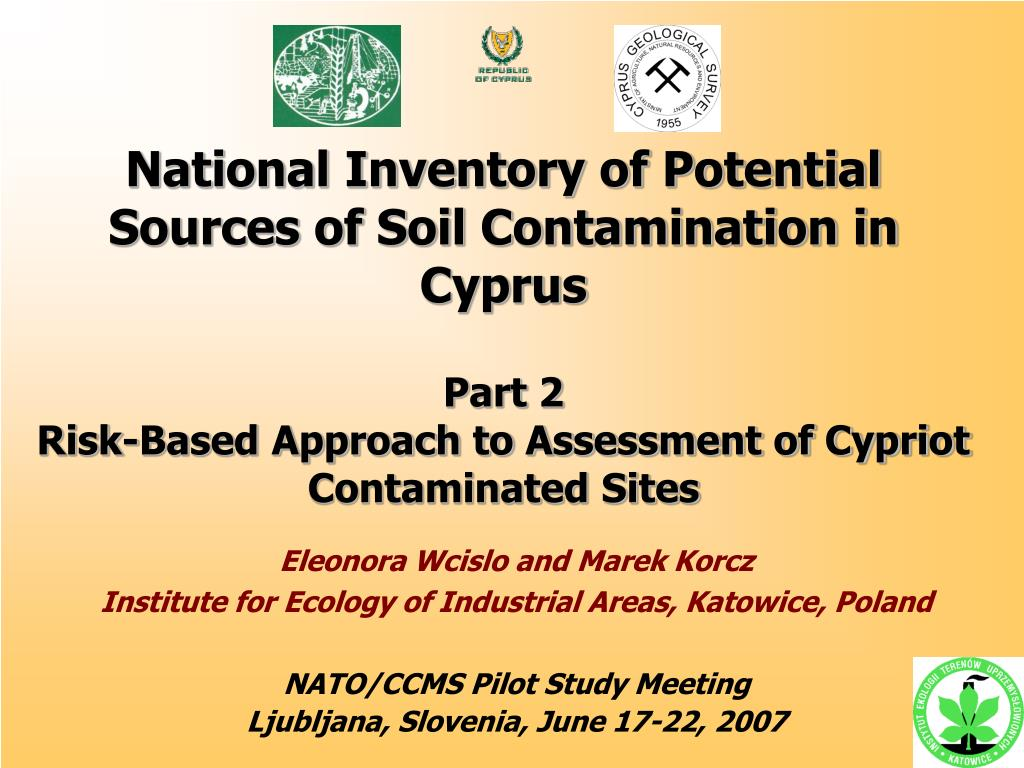 National Inventory of Potential Sources of Soil Contamination in Cyprus