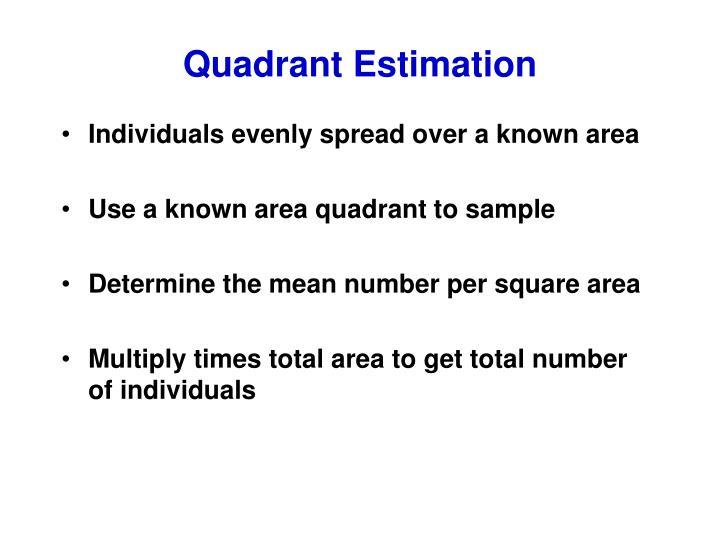 Quadrant Estimation