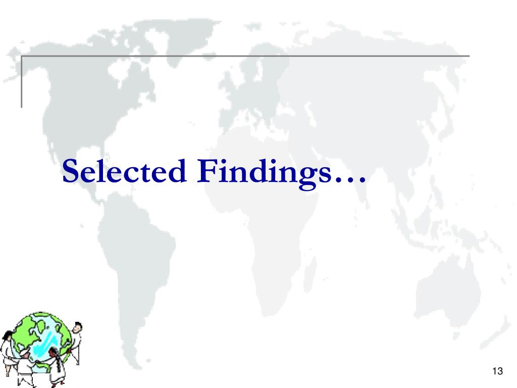 Selected Findings…