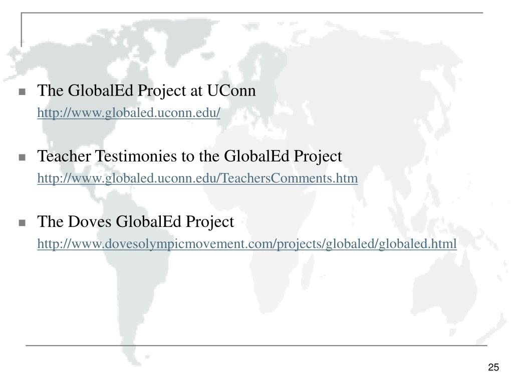 The GlobalEd Project at UConn