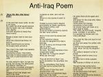 anti iraq poem