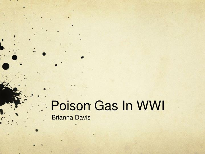 poison gas in wwi n.