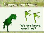 dragons and giants