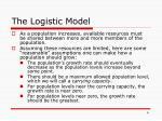 the logistic model