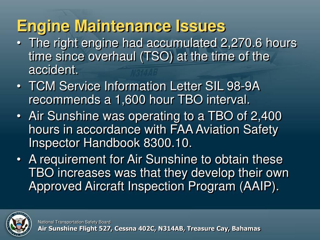 Engine Maintenance Issues