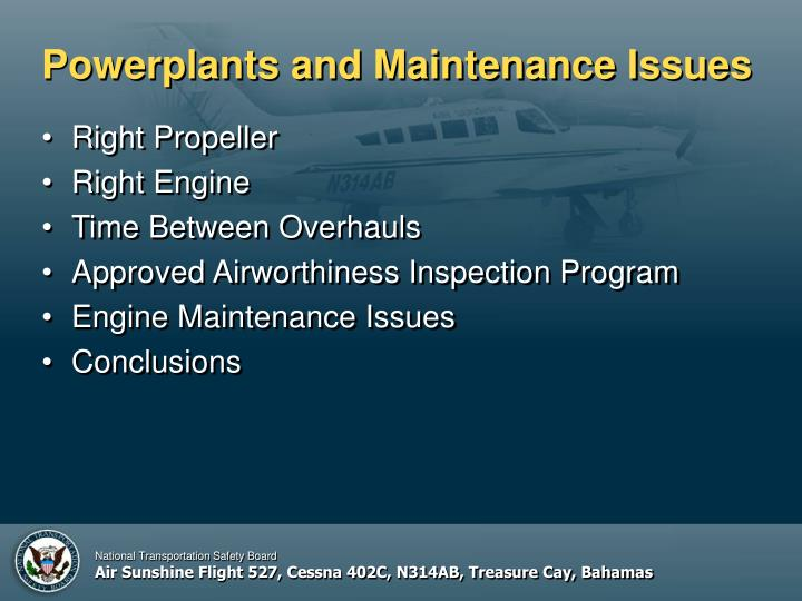 Powerplants and maintenance issues2