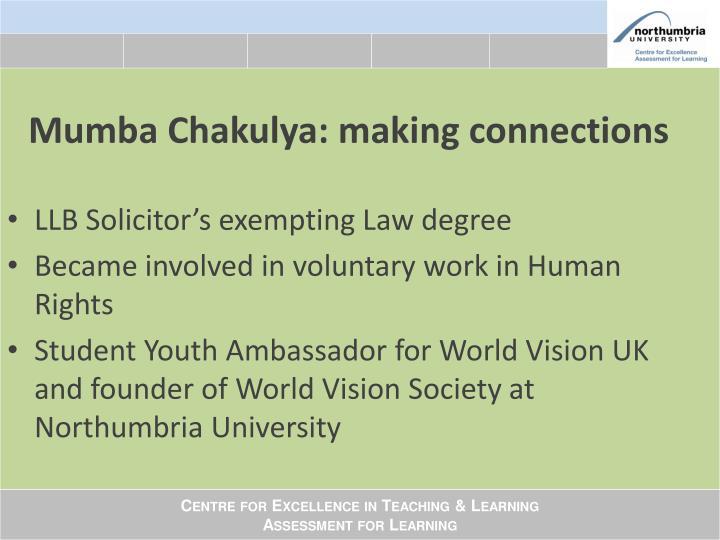 Mumba Chakulya: making connections
