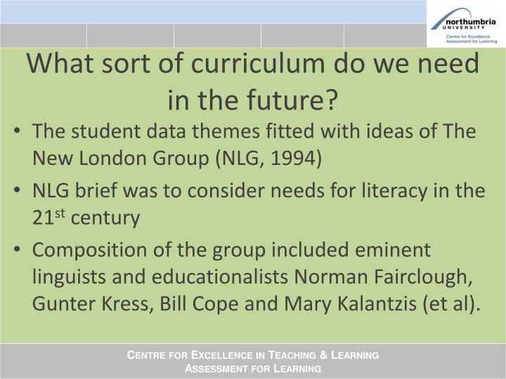 What sort of curriculum do we need in the future?