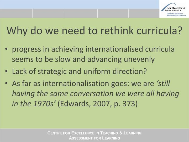 Why do we need to rethink curricula