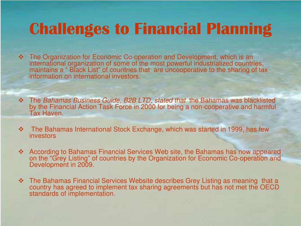 Challenges to Financial Planning