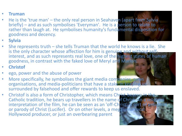 Ppt Symbolism In The Truman Show Powerpoint Presentation Id1128858