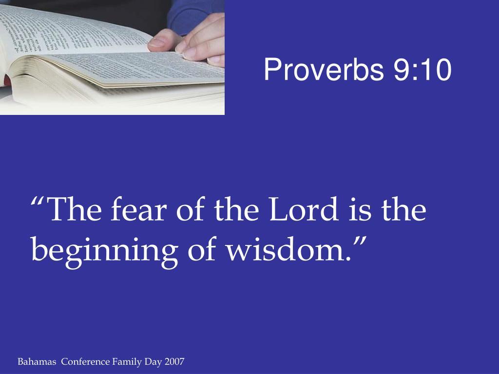 Proverbs 9:10
