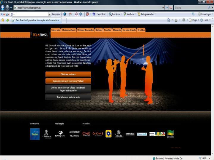 Sites e atividades online