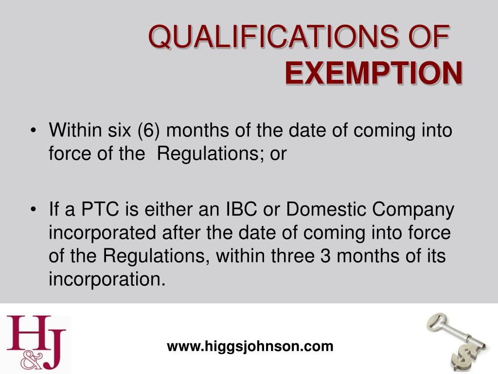 Within six (6) months of the date of coming into force of the  Regulations; or