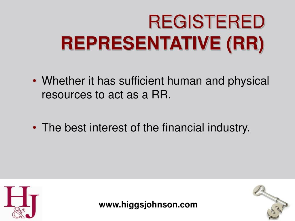 Whether it has sufficient human and physical resources to act as a RR.