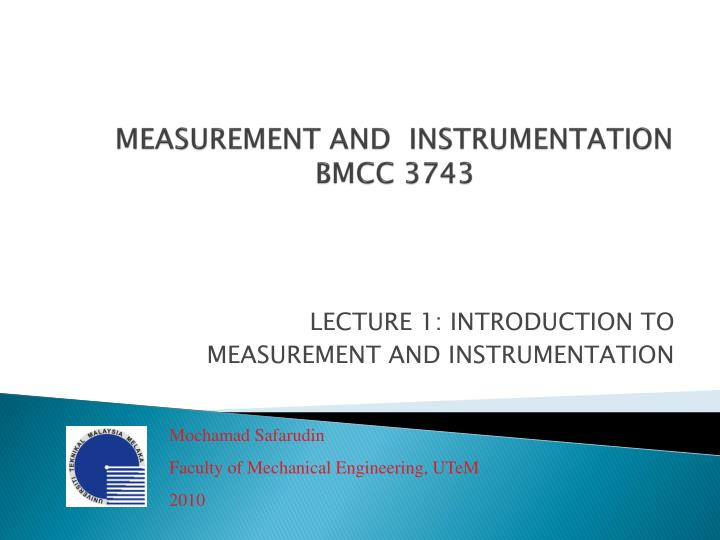 measurement and instrumentation bmcc 3743 n.