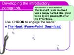 developing the introductory paragraph