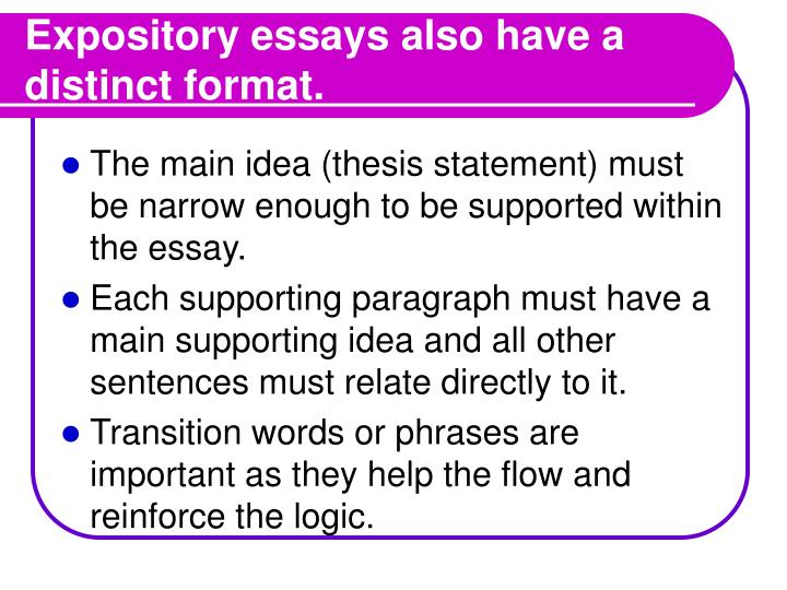 PPT The Expository Essay PowerPoint Presentation ID 112893
