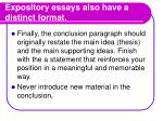 expository essays also have a distinct format5