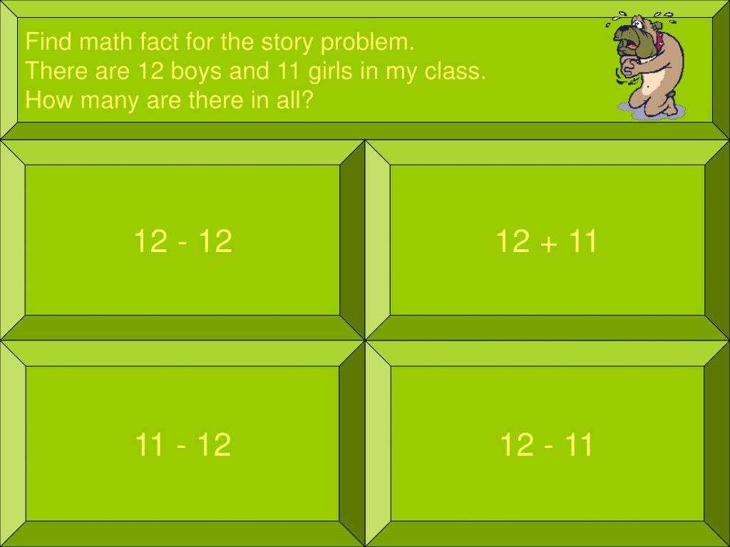 Find math fact for the story problem.